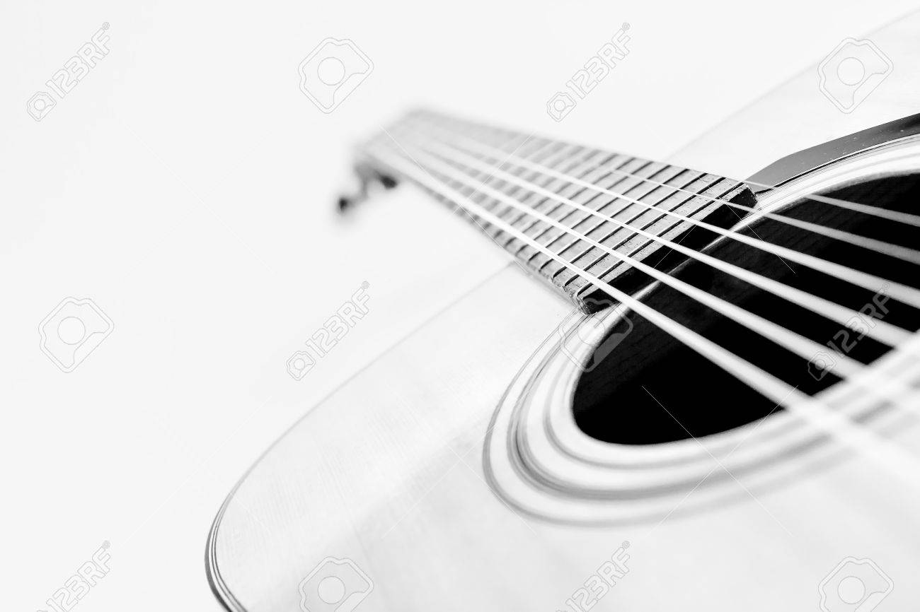 Guitar convert a black and white photographs and high key photography stock photo