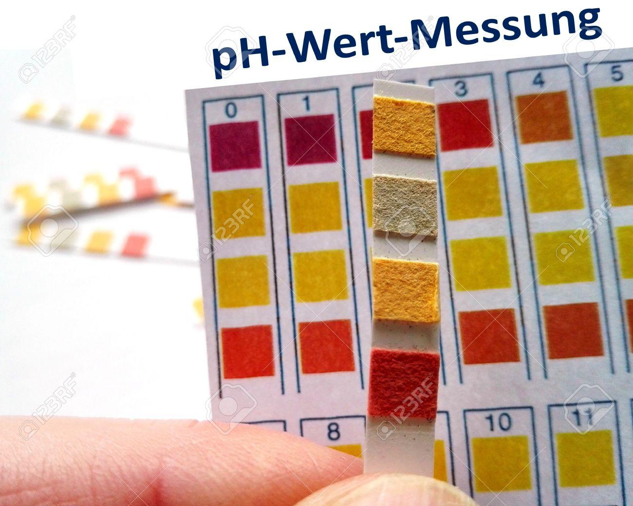 PH value measurement - value Rods for measuring the acid content, pH (German version) - 70156328
