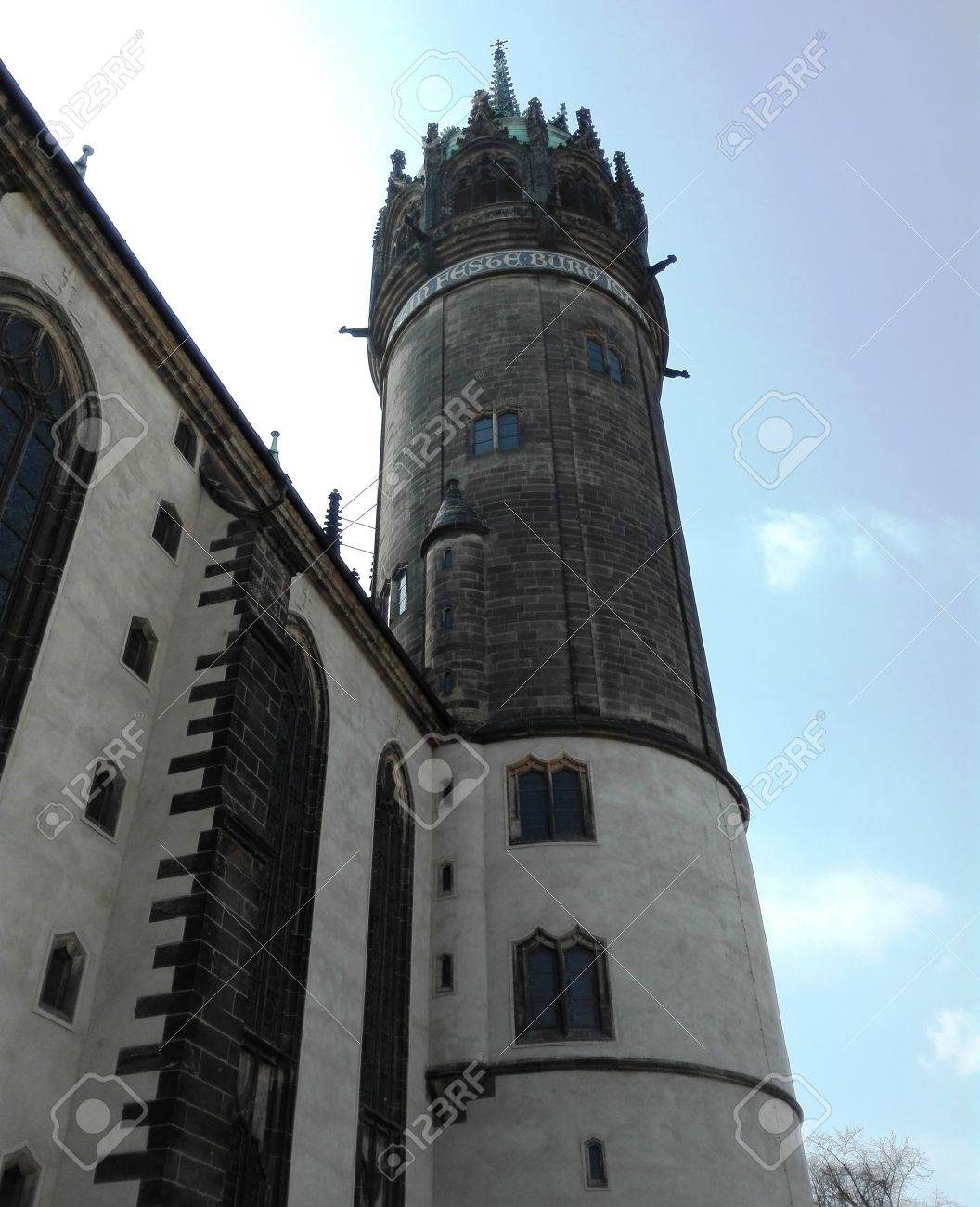 Decorating martin luther church door photos : Tower Of The Castle Church Of All Saints, Wittenberg, Germany ...