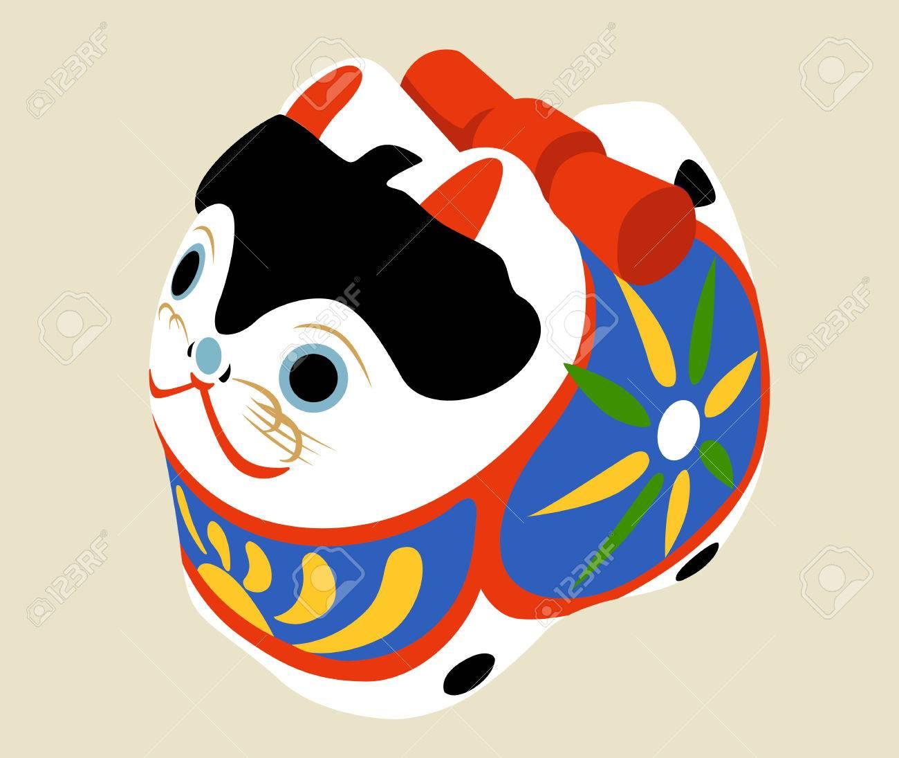 Dog illustration: Japanese style. - 85695675