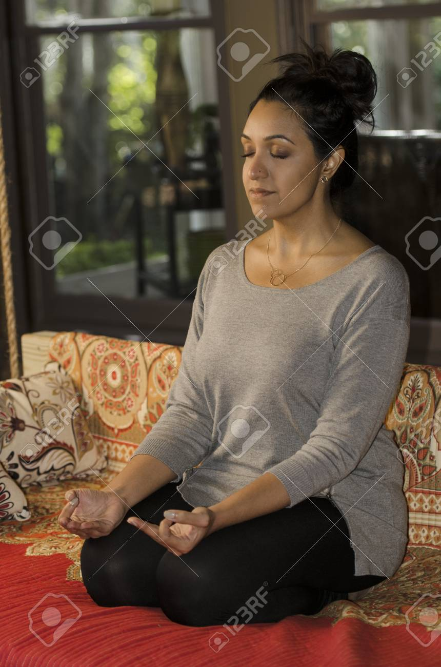 Young Fit Indian Woman Practicing Yoga And Relaxing Stock Photo Picture And Royalty Free Image Image 33384880