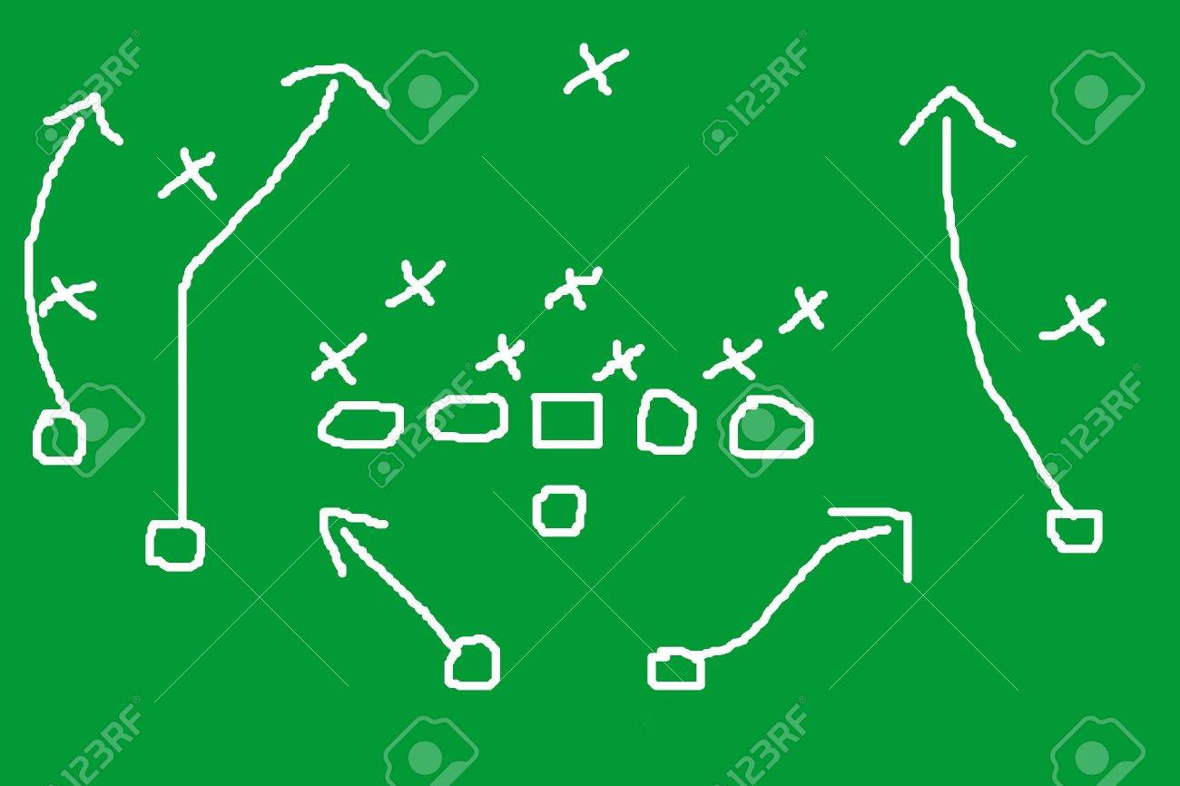 Diagram of football play Stock Photo - 2623488