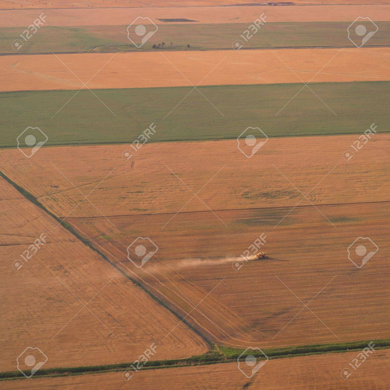 Canadian Prairies,Harvested wheat Stock Photo - 2348546