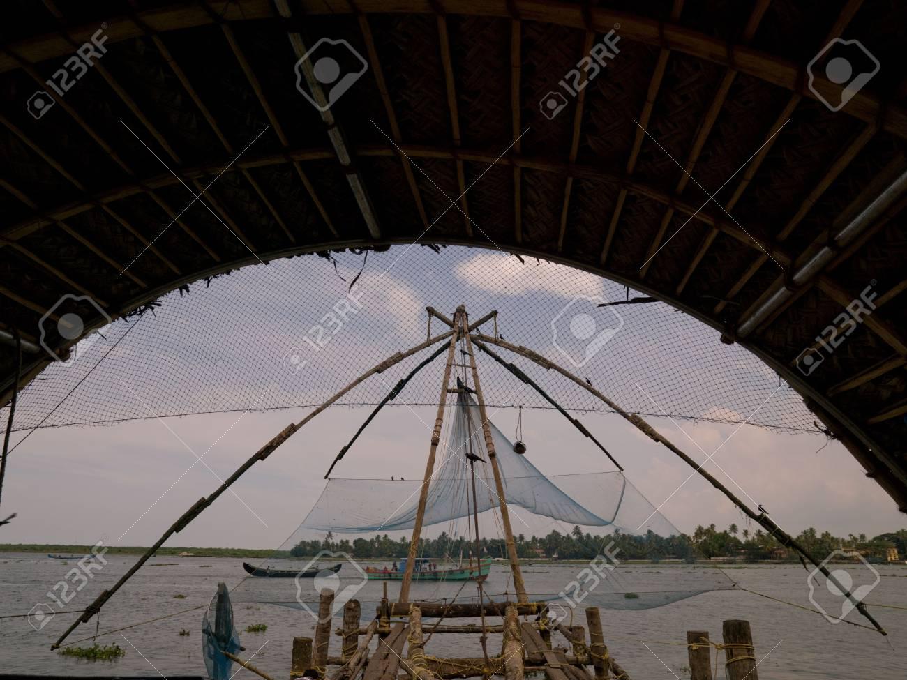 Chinese fishing nets, Cochin, India Stock Photo - 5296580