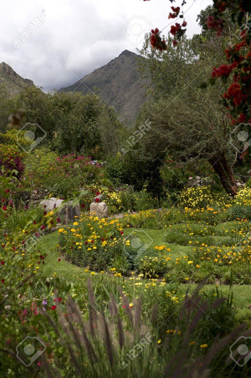 Plants In A Garden, Willka Tika, Sacred Valley, Cusco Region ...
