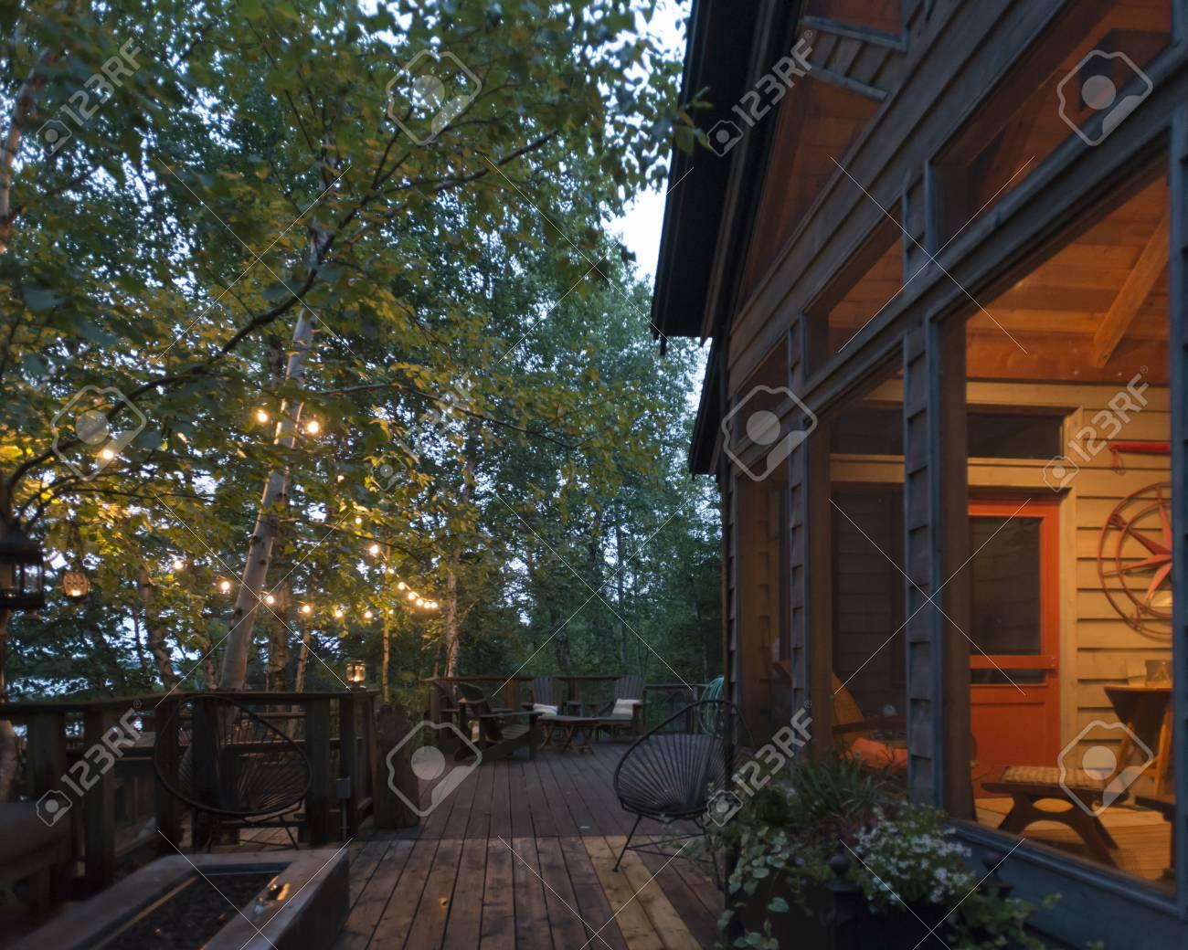 Maison en bois à Forest, Kenora, Lac des Bois, Ontario, Canada