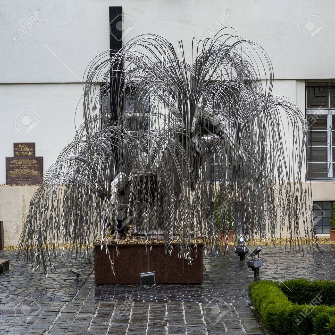 Sculpture Of Weeping Willow Tree In Raoul Wallenberg Holocaust