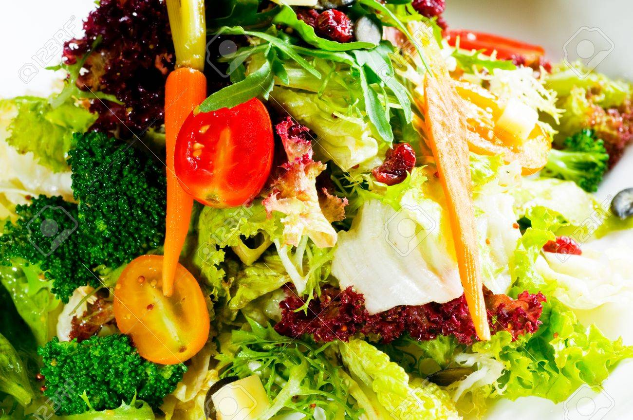 Fresh Mixed Vegetables Salad Extreme Close Up Very Healthy Food intended for very healthy foods intended for your inspiration