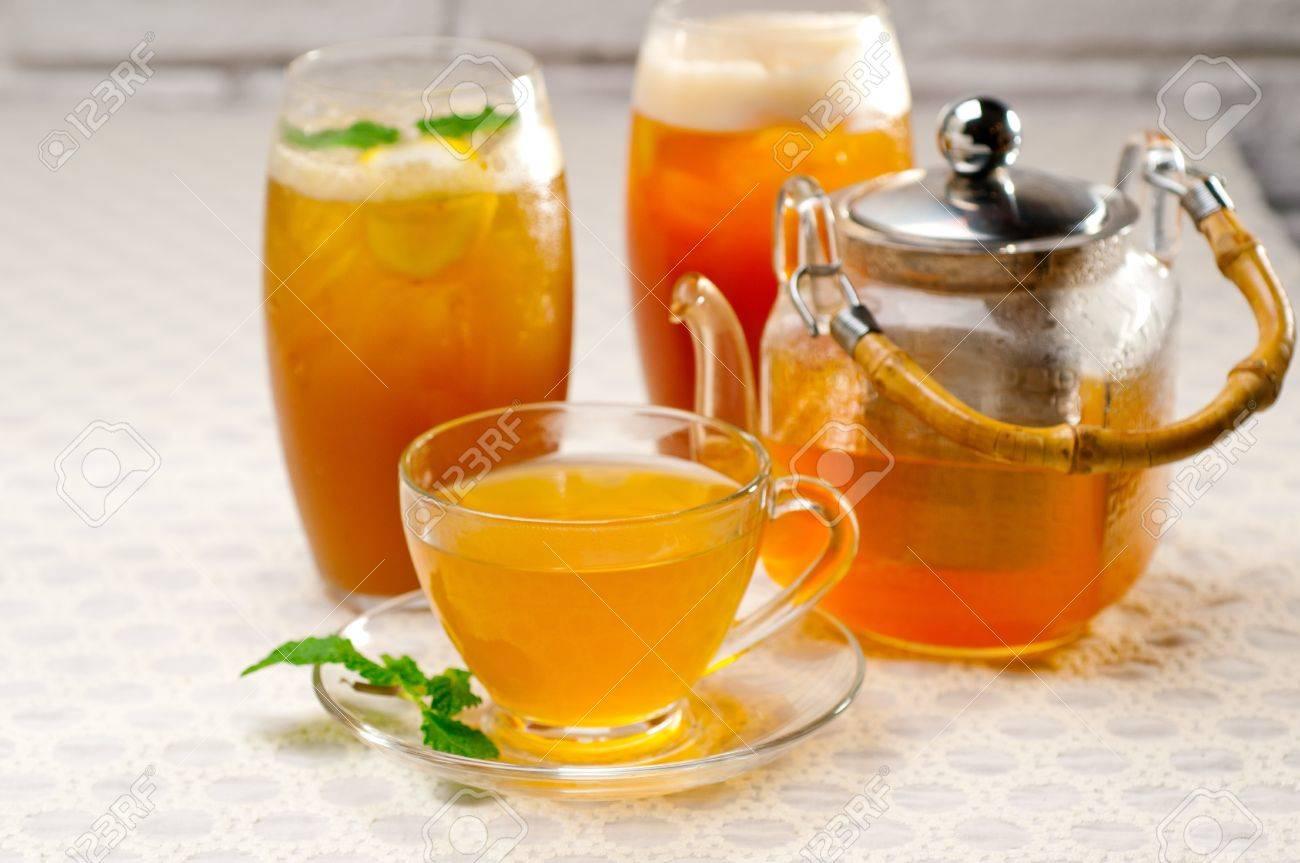 fresh brewed selection of tea clodeup macro Stock Photo - 18865940