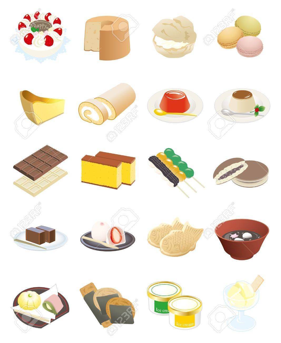 Various Sweets Stock Vector - 12135602