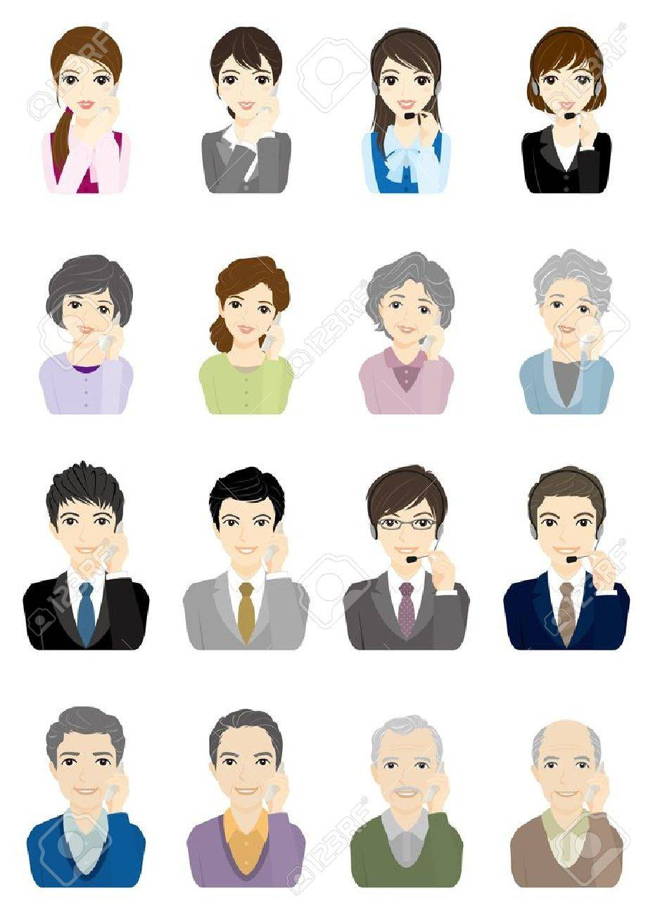 Business / Face Stock Vector - 12219689
