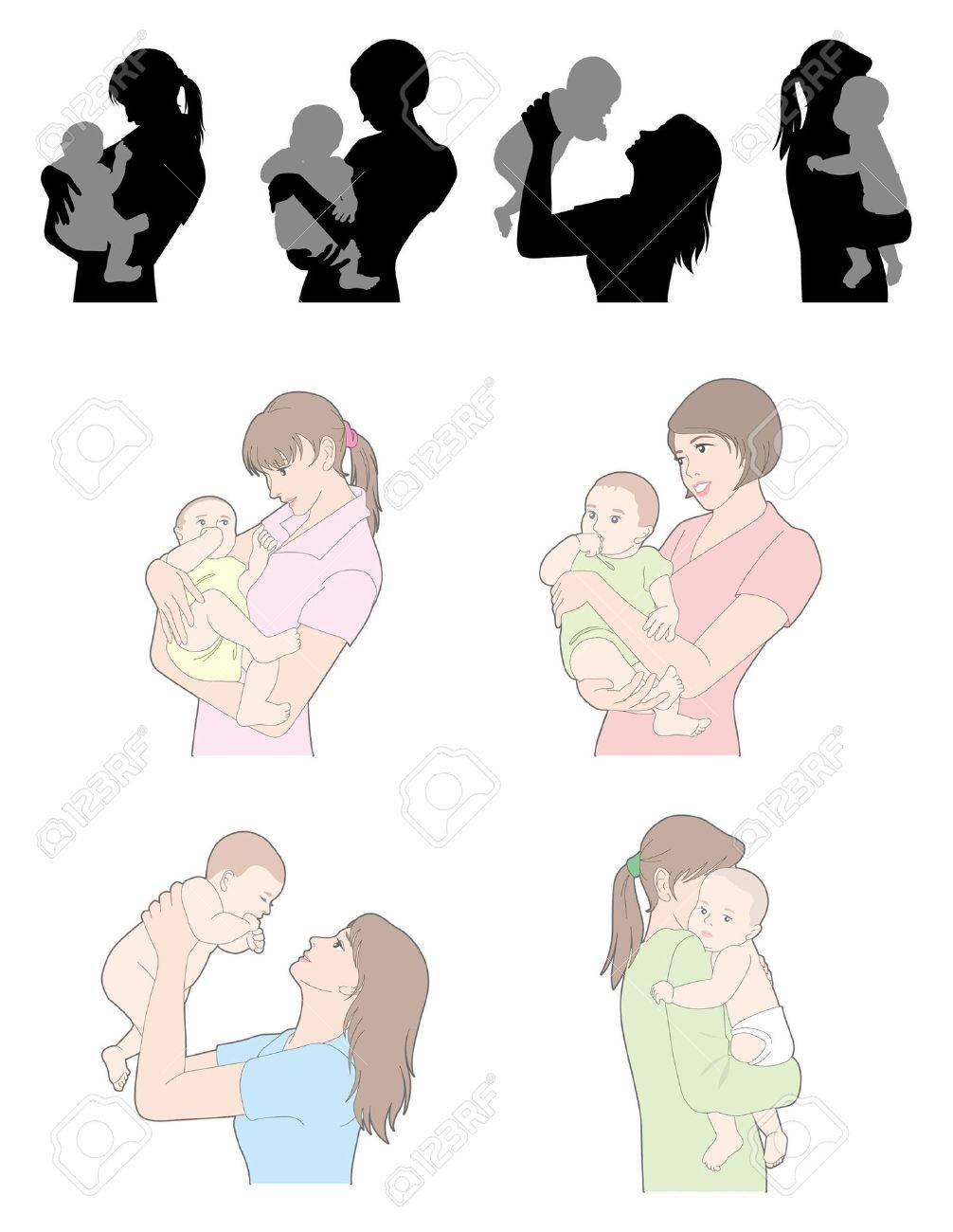 Childcare / Woman Stock Vector - 12495800