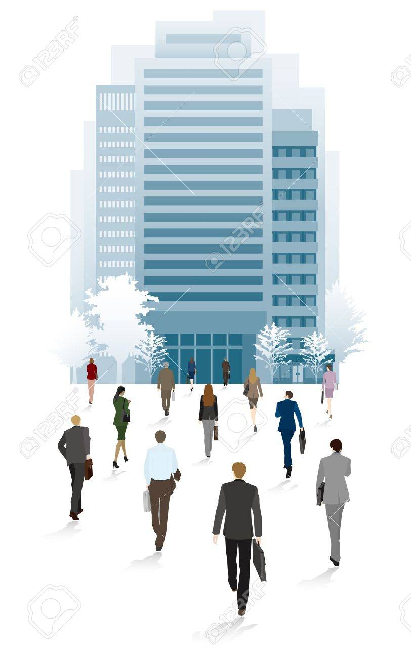 People of the town business people / Go to the office Stock Vector - 13946923