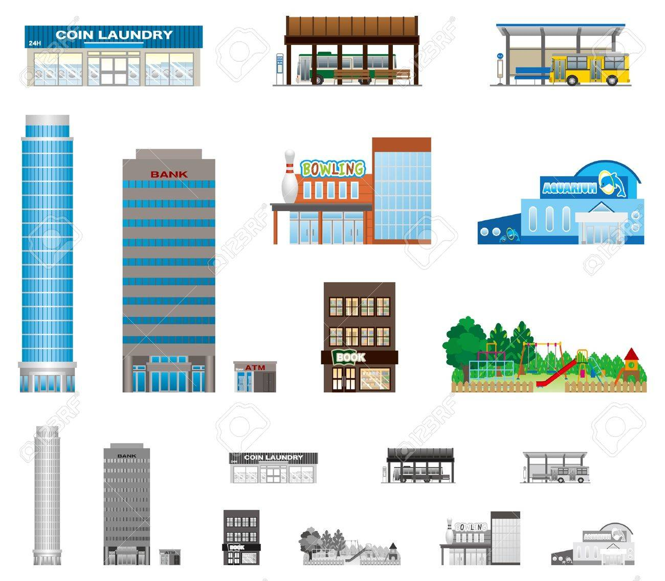 The building of the city Stock Vector - 16543215