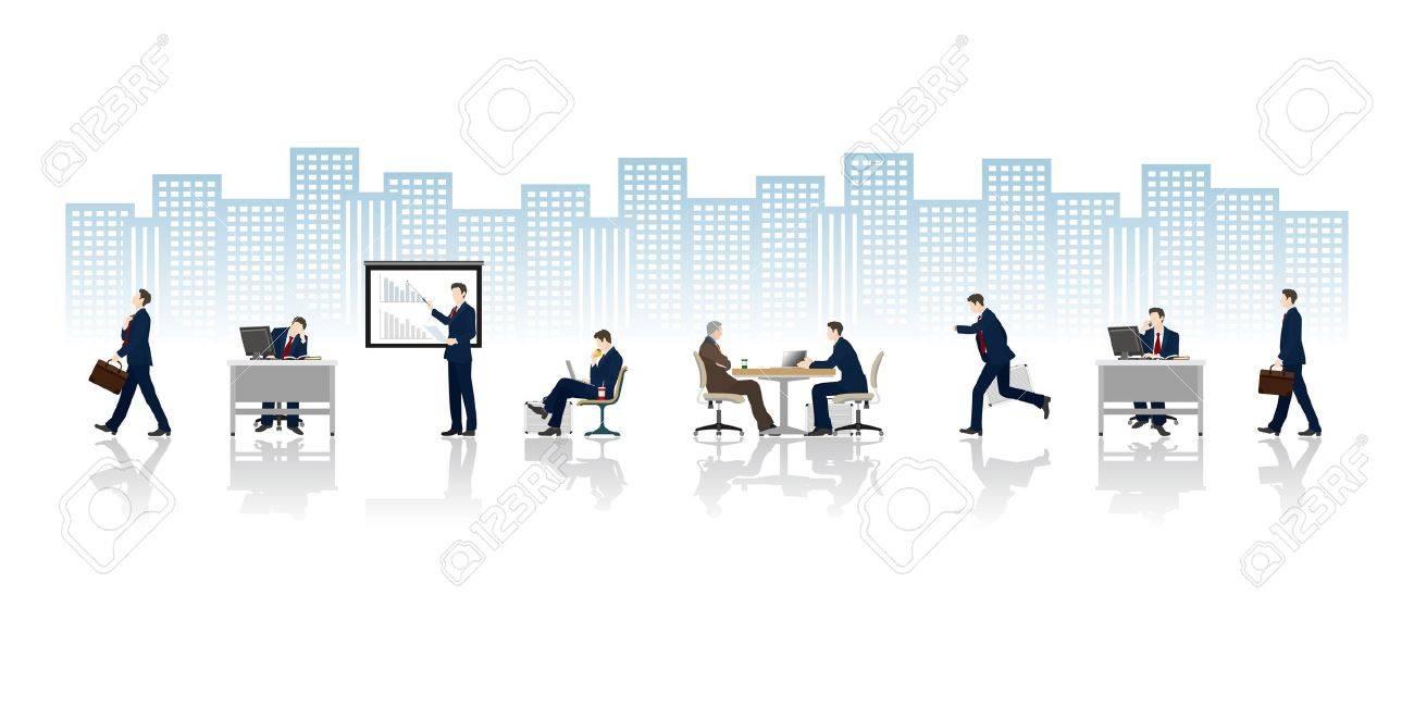 Businessman Work - 19879489