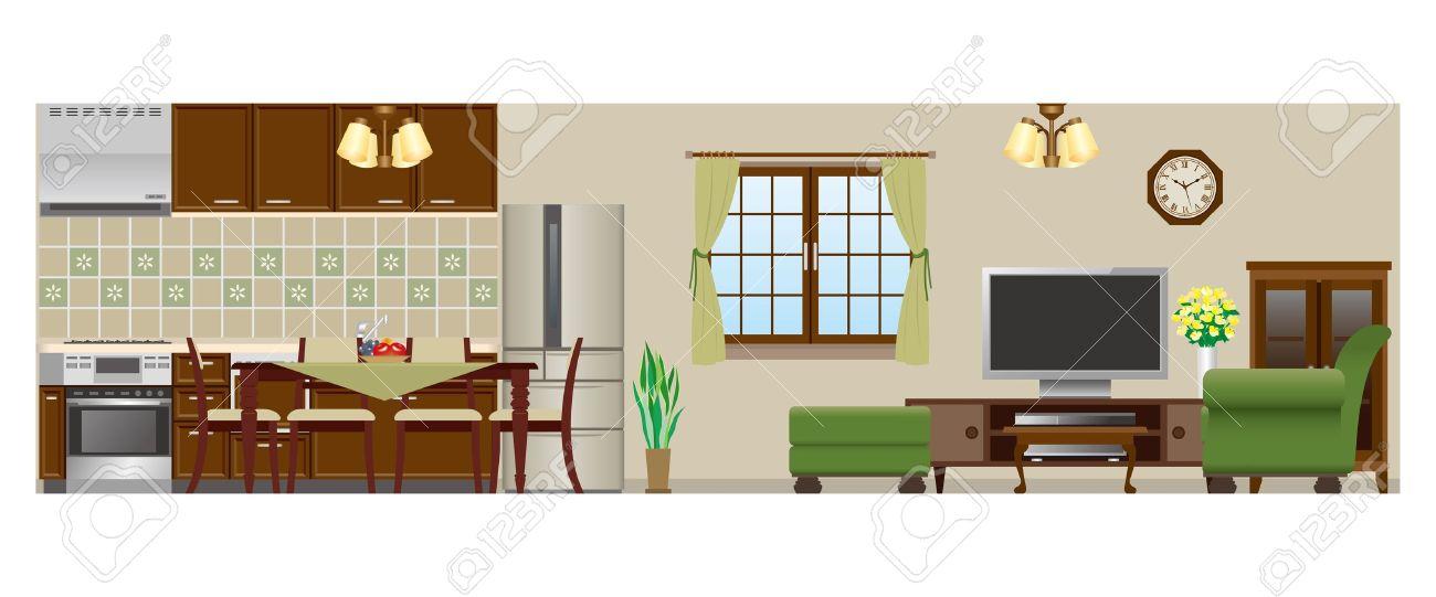 Living room Dining room Kitchen - 20749466