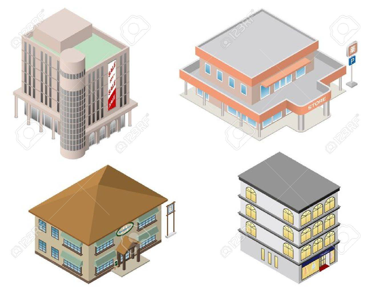 Building   shop   Business Stock Vector - 21743390