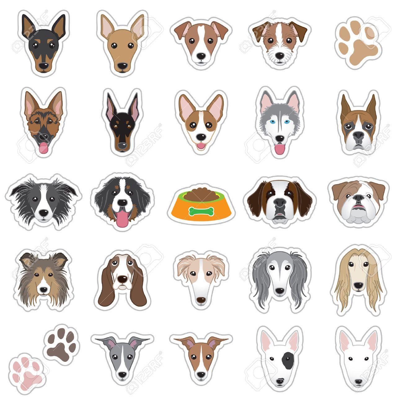 犬の顔のイラストのイラスト素材ベクタ Image 34037828