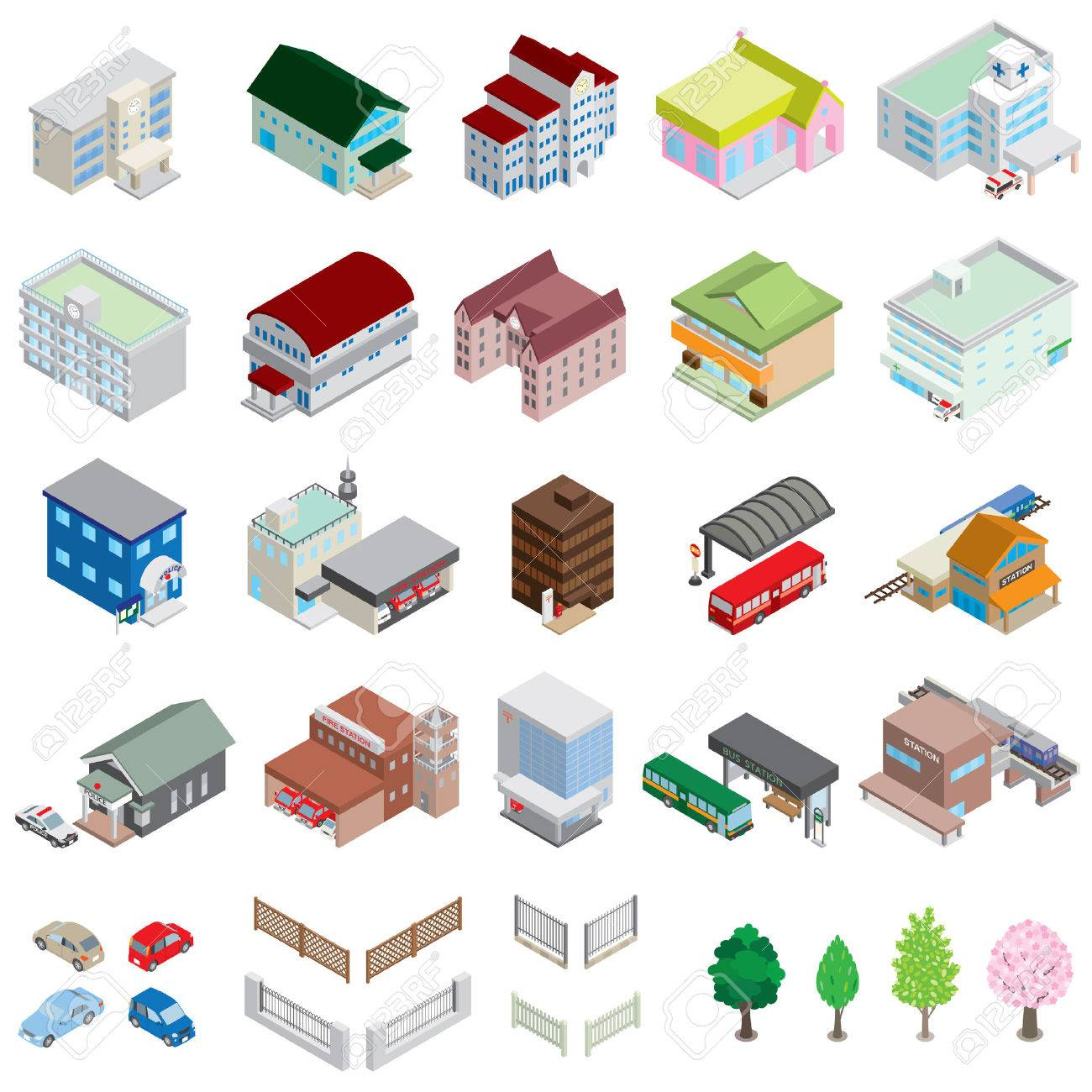 Various building / Solid figure - 35166553