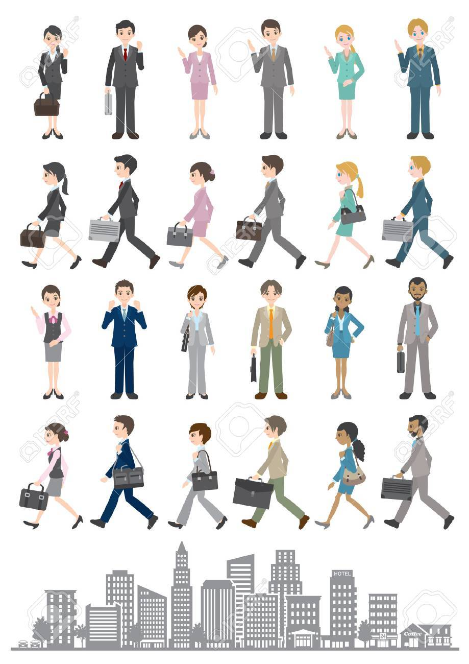 Illustrations of various people / Business - 35834533