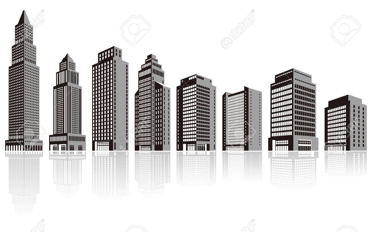建物/ビル/シルエット