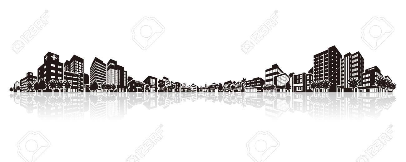 Cityscape Vector Illustration - 64508552
