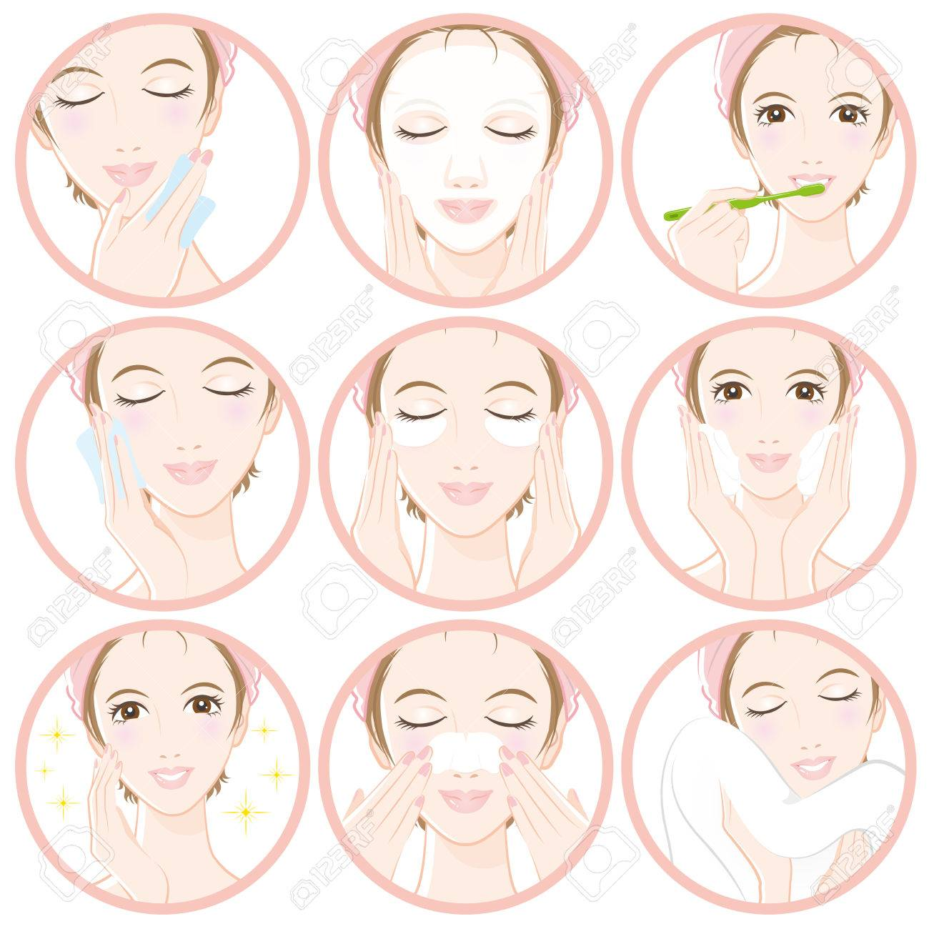 Women who do skin care - 76780197