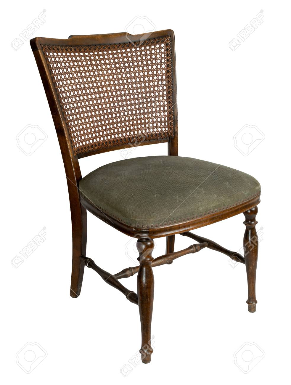 Prime Retro Wooden French Cane Back Dining Chair Isolated On White Ibusinesslaw Wood Chair Design Ideas Ibusinesslaworg
