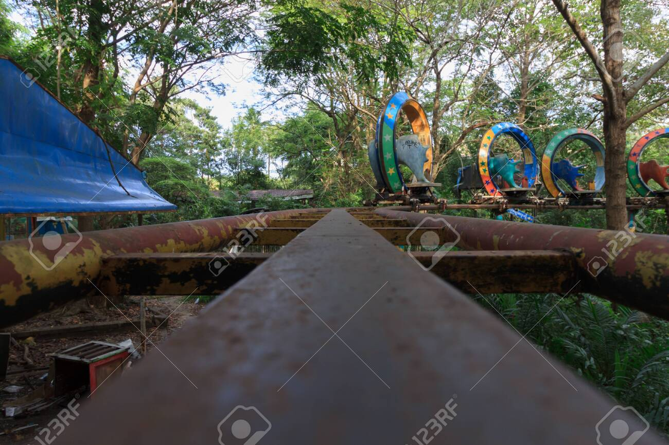 Creepy Abandoned Amusement Park In Yangon Formerly Known As Stock Photo Picture And Royalty Free Image Image 127930805