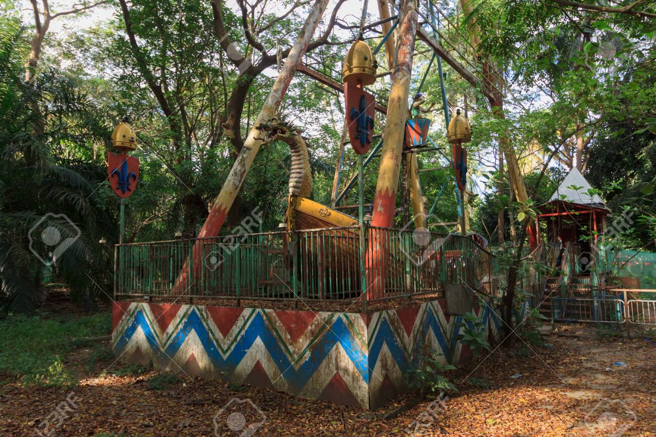Creepy Abandoned Amusement Park In Yangon Formerly Known As Stock Photo Picture And Royalty Free Image Image 127930927