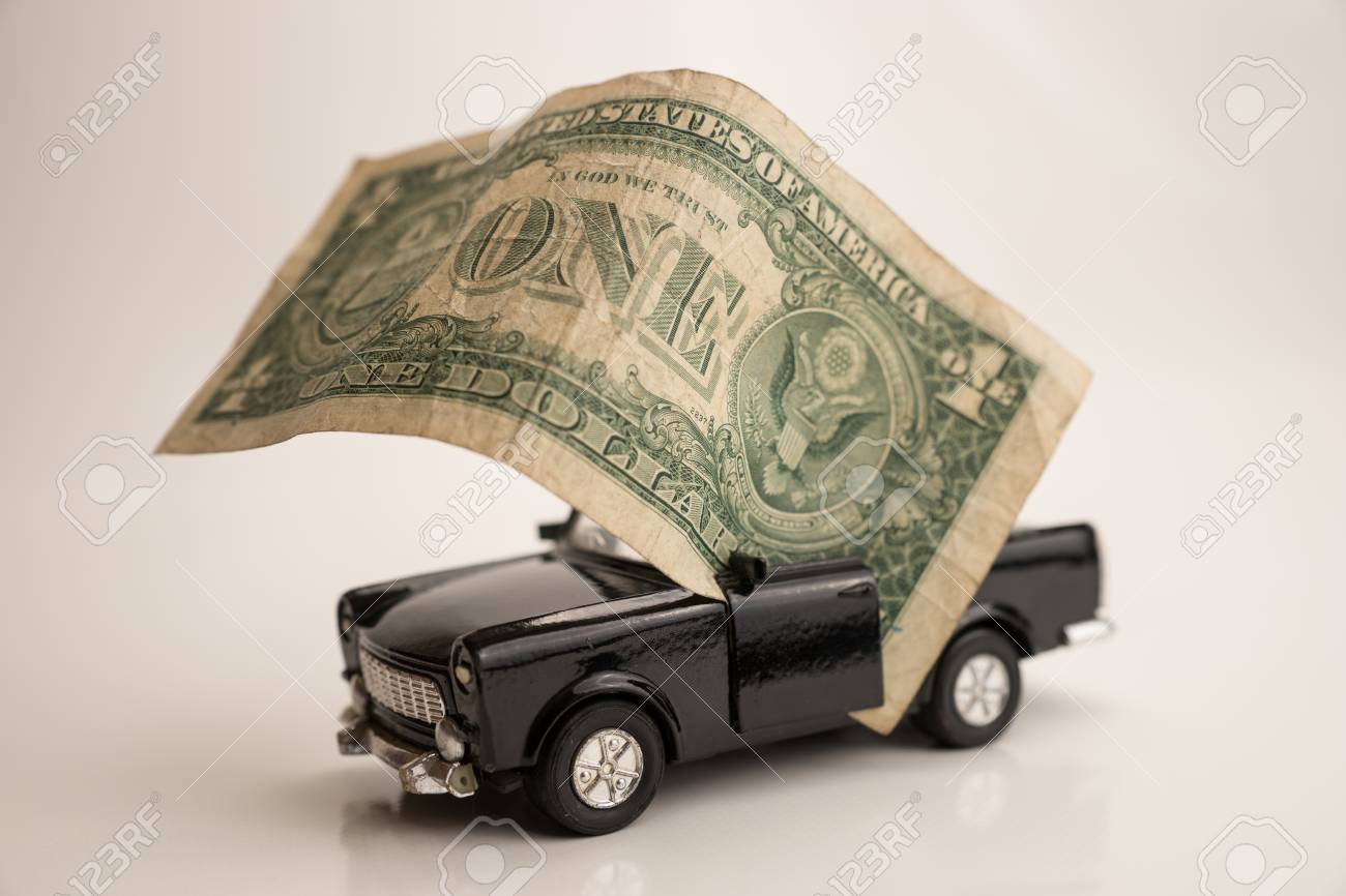 Toy Old Car For One Dollar Stock Photo, Picture And Royalty Free ...