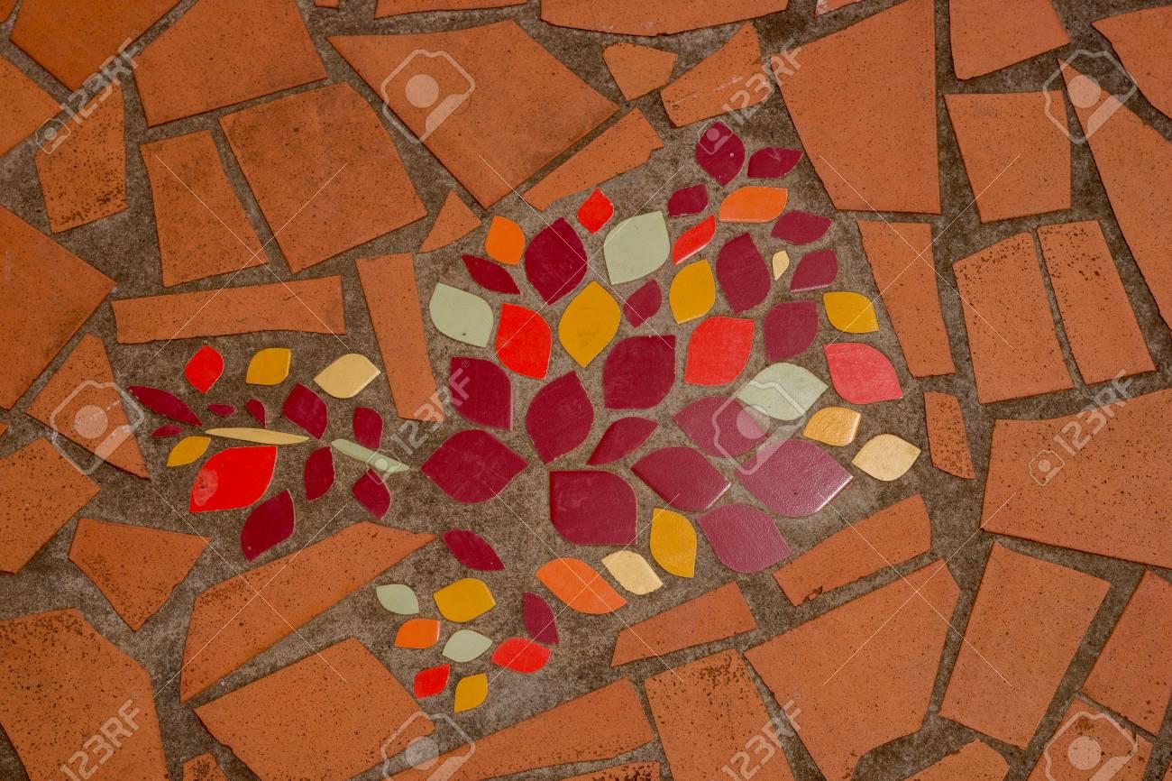 Mosaique Murale Decorative Ornement De Carreaux De Ceramique Brisee