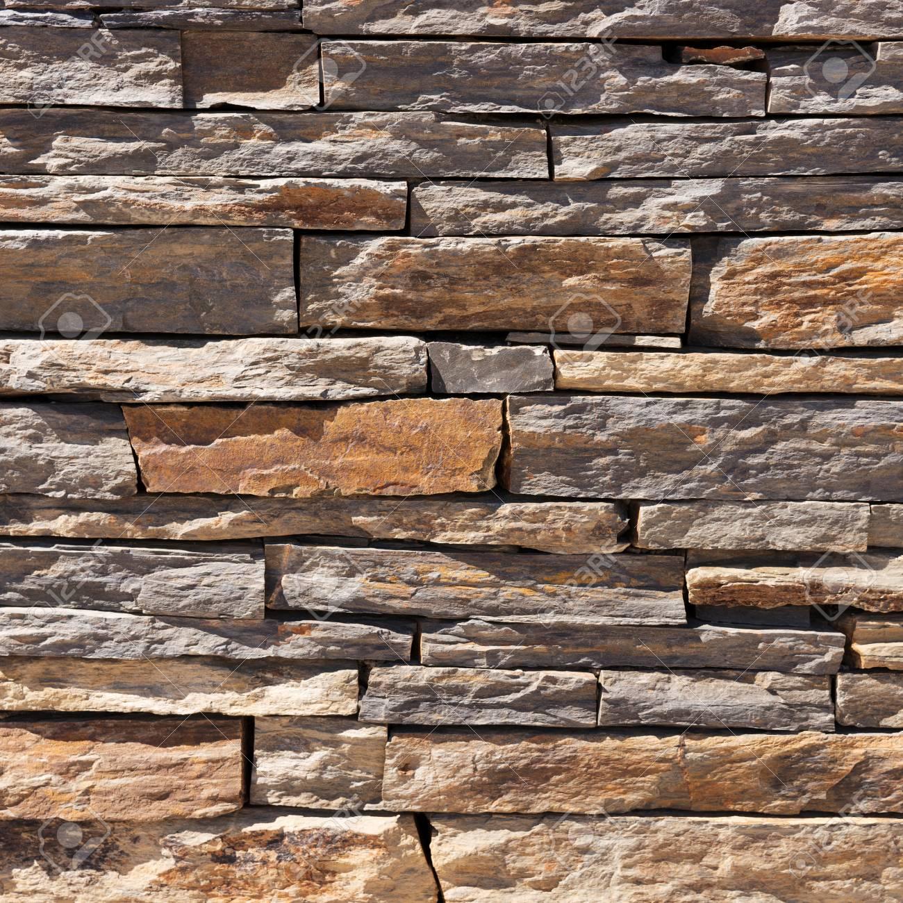 Muro De Piedras Naturales De Color Marron Textura De La Pared Fotos - Muro-piedra