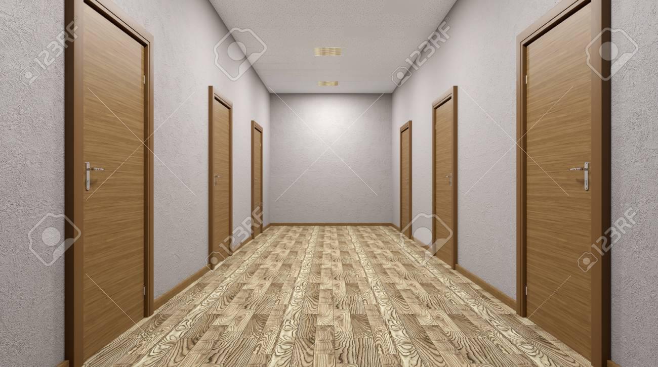 Le couloir dans le b timent de bureaux rendu d banque d images