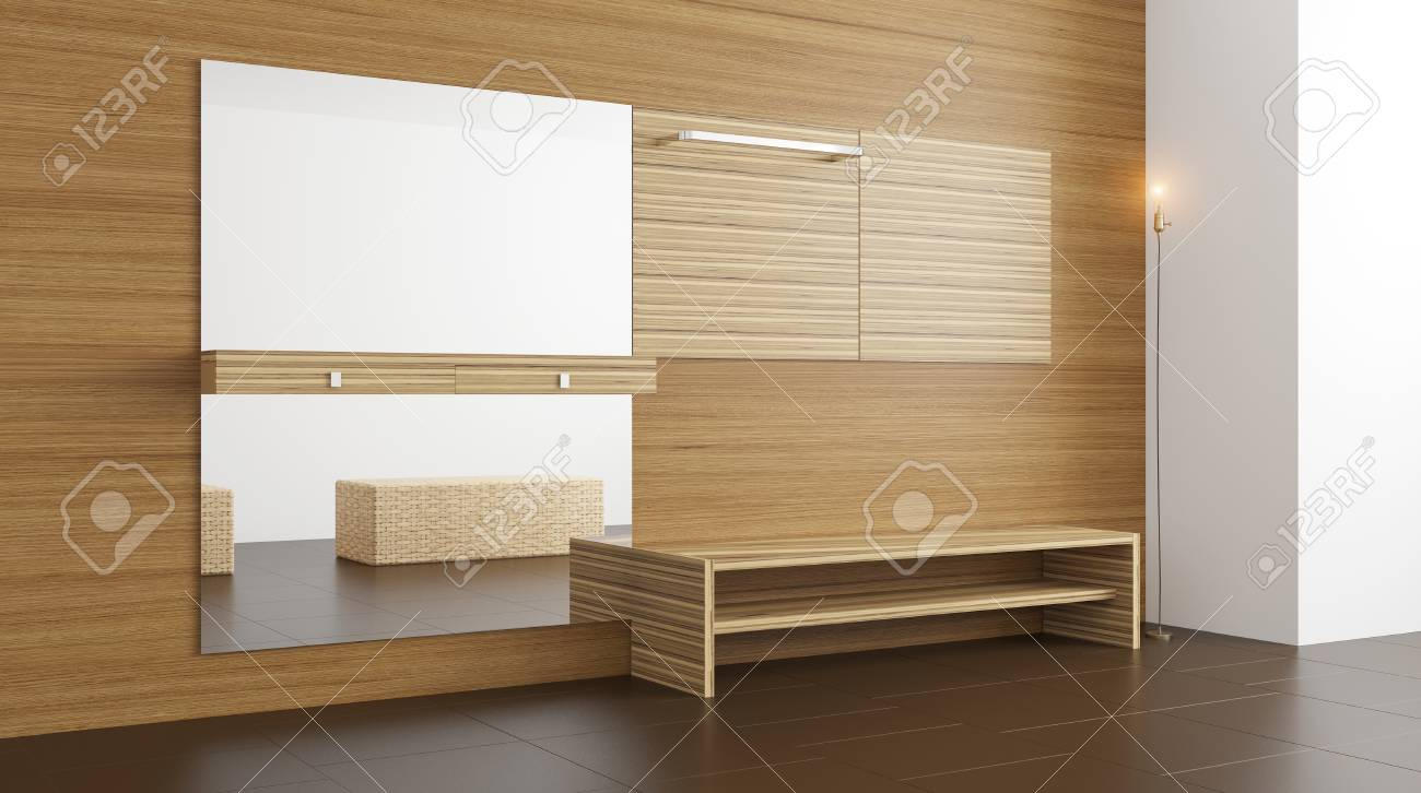 Cool Möbel Für Den Flur Ideen Von Der Moderne Mit Möbeln. 3d-rendering Standard-bild -