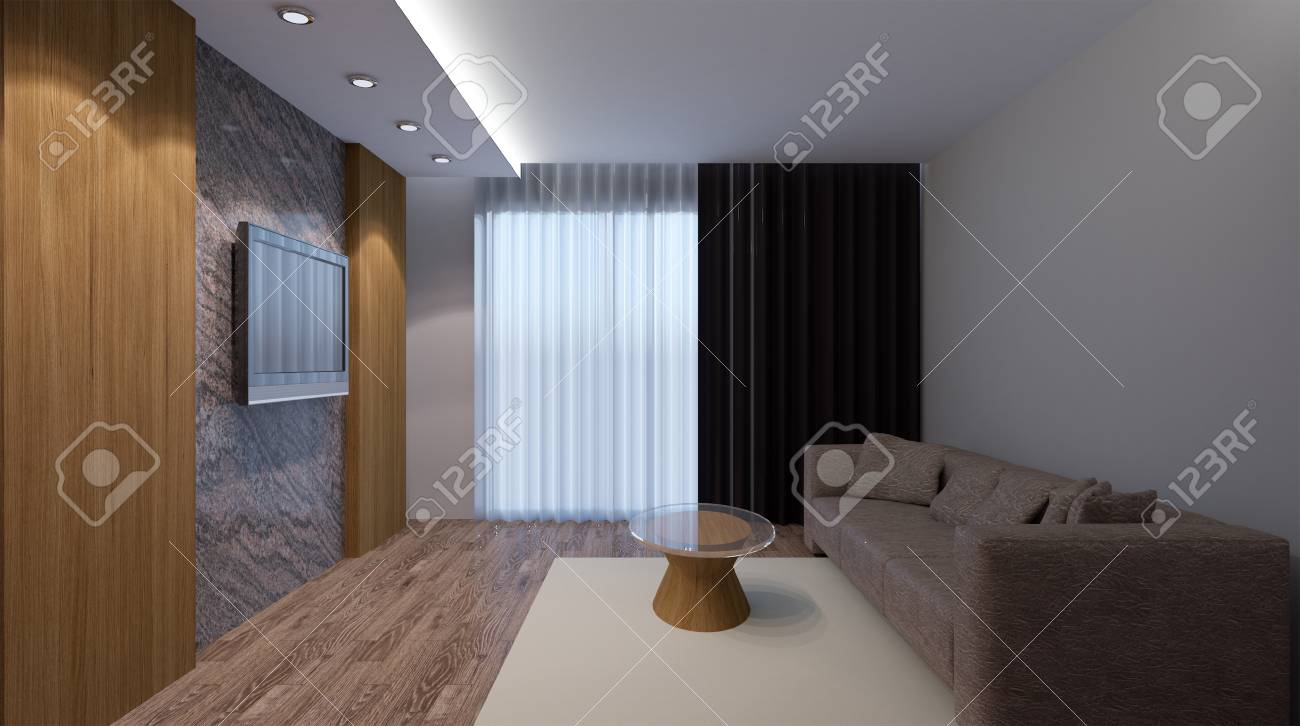 Bureau moderne salon intérieur rendu d banque d images et