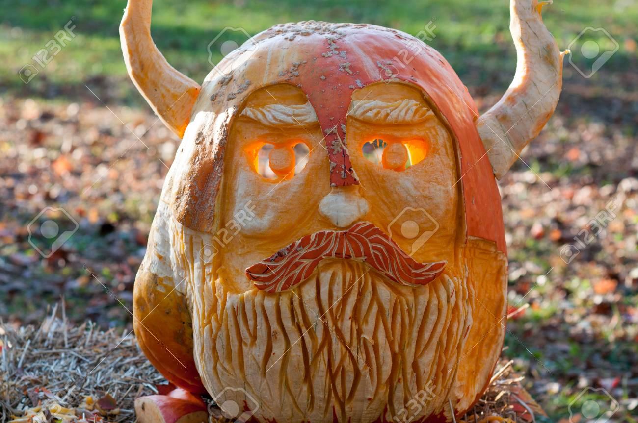 Chadds ford pa october viking pumpkin at the great pumpkin