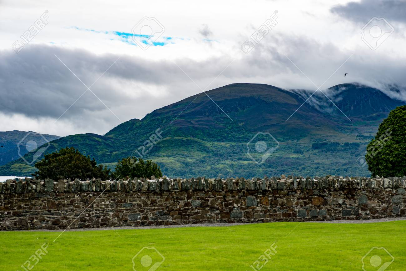 KILLARNEY, IRELAND - AUGUST 20, 2017: View of Aghadoe Church