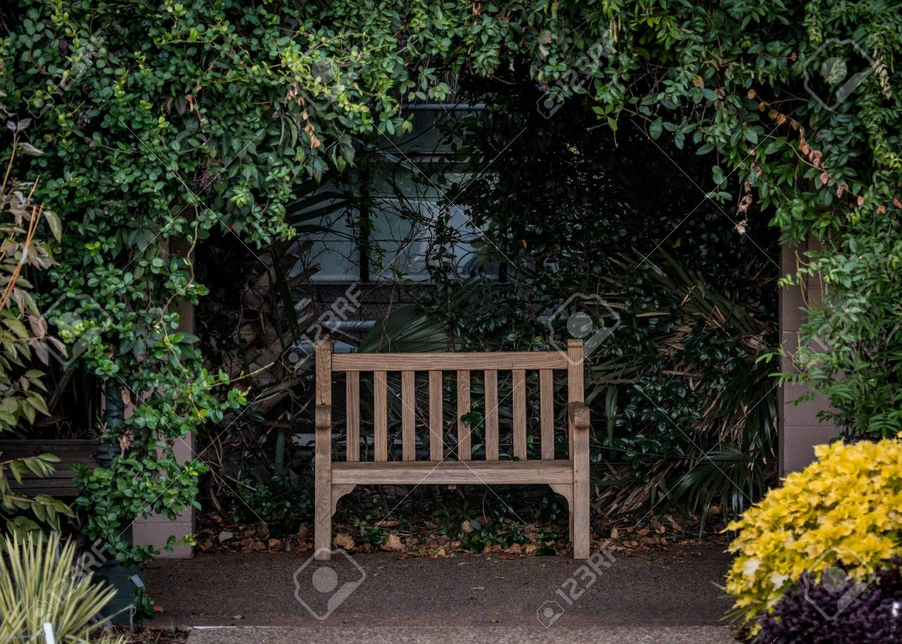 Cool Park Bench In Alcove In Outdoor Garden Forskolin Free Trial Chair Design Images Forskolin Free Trialorg