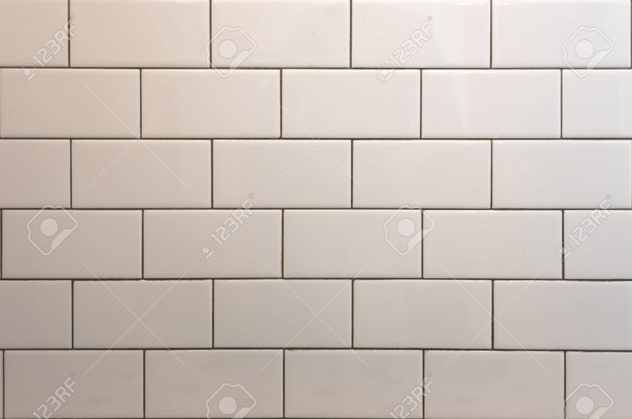 White Subway Tile With Black Grout Background Image Stock Photo Picture And Royalty Free Image Image 124629175