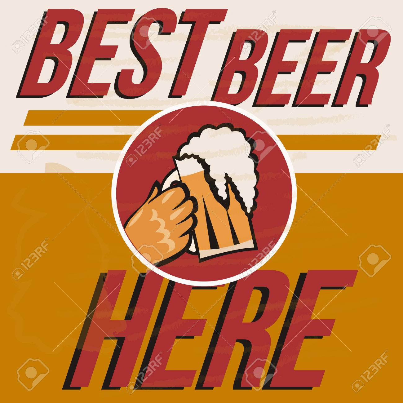 Retro Beer Vector Poster Vintage Template For Cold Label Or Banner