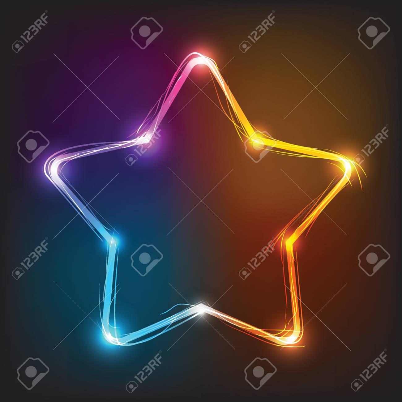 Vector neon star illuminated neon billboard element for vector neon star illuminated neon billboard element for signboard bar saloon buycottarizona Choice Image