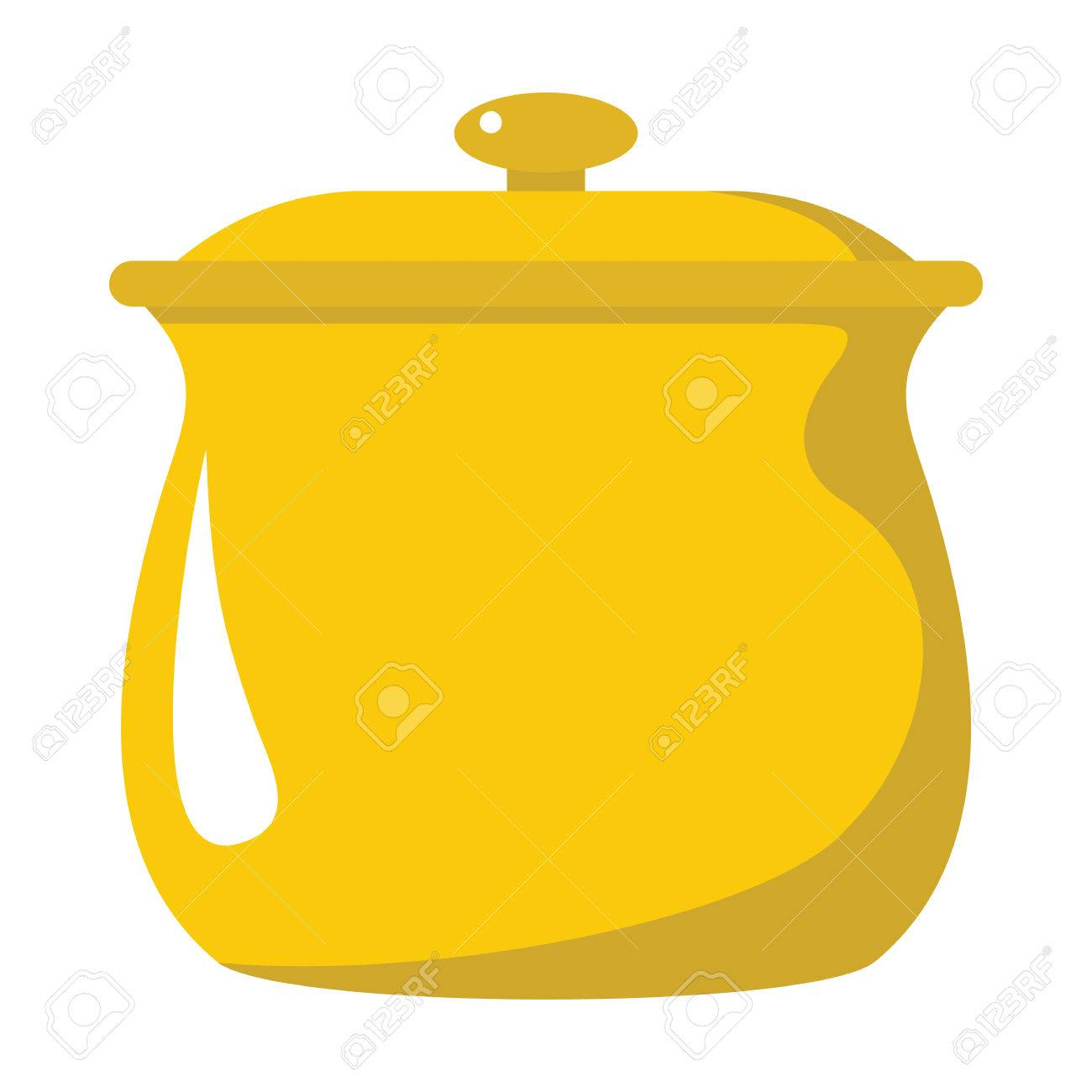 Pot Cartoon Icon. Kitchen Tools, Cookware And Kitchenware Vector  Illustration For You Kitchen Design