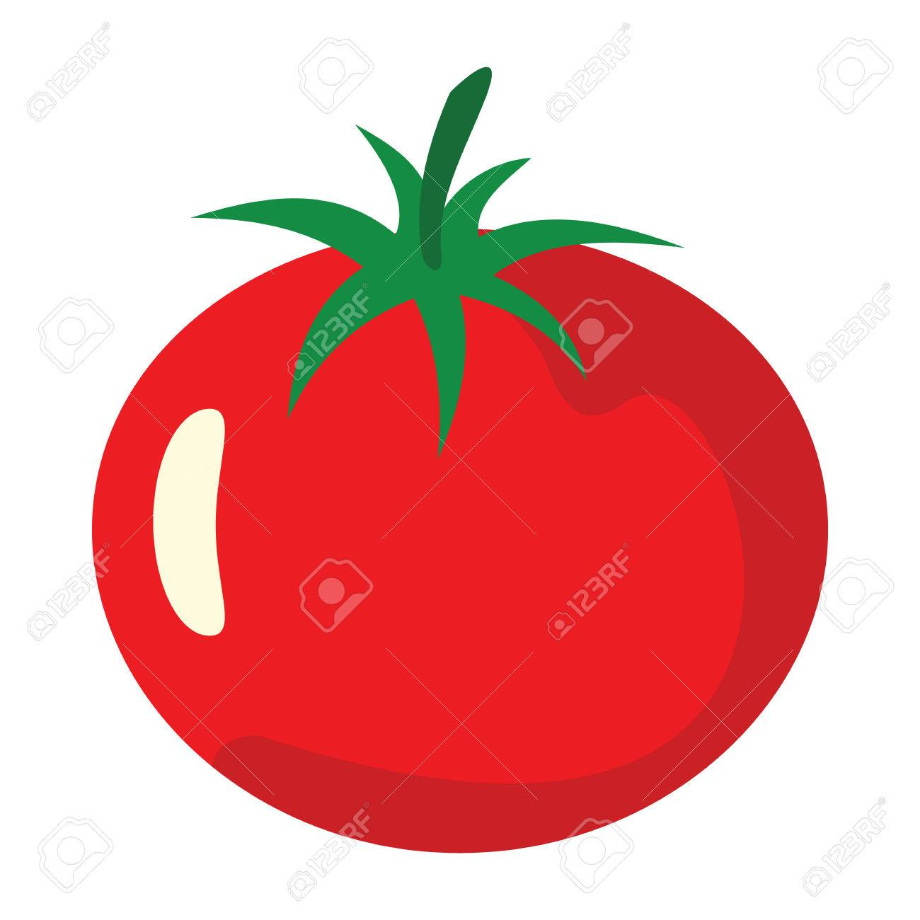 tomato icon in cartoon flat style isolated object vegetable organic rh 123rf com cartoon tomato slice cartoon tomato plant
