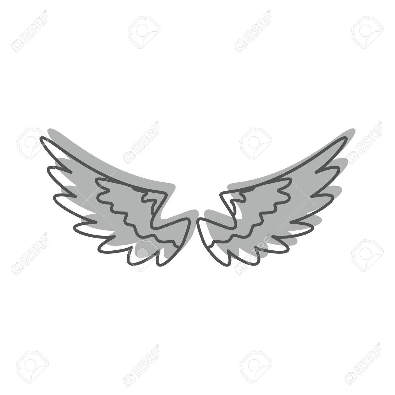 angel wings doodle icon vector illustration for design and web rh 123rf com wing logistics fall river wing logistics