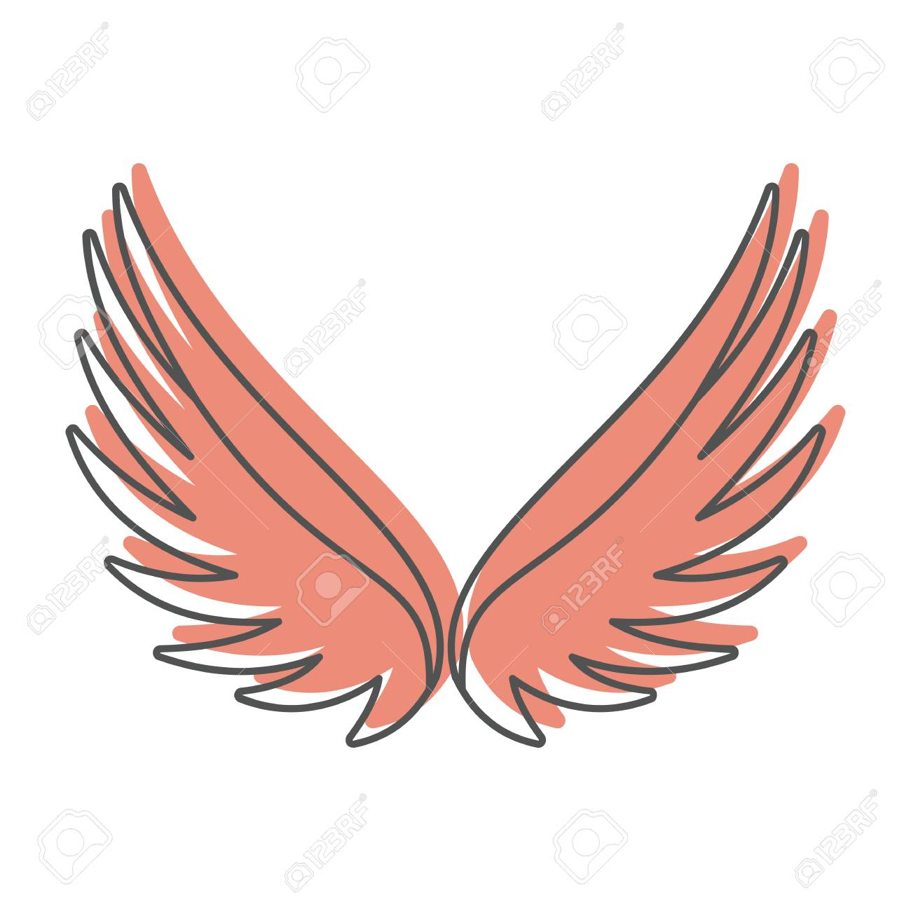 angel wings doodle icon vector illustration for design and web rh 123rf com angel wings vector free download angel wings vector silhouette