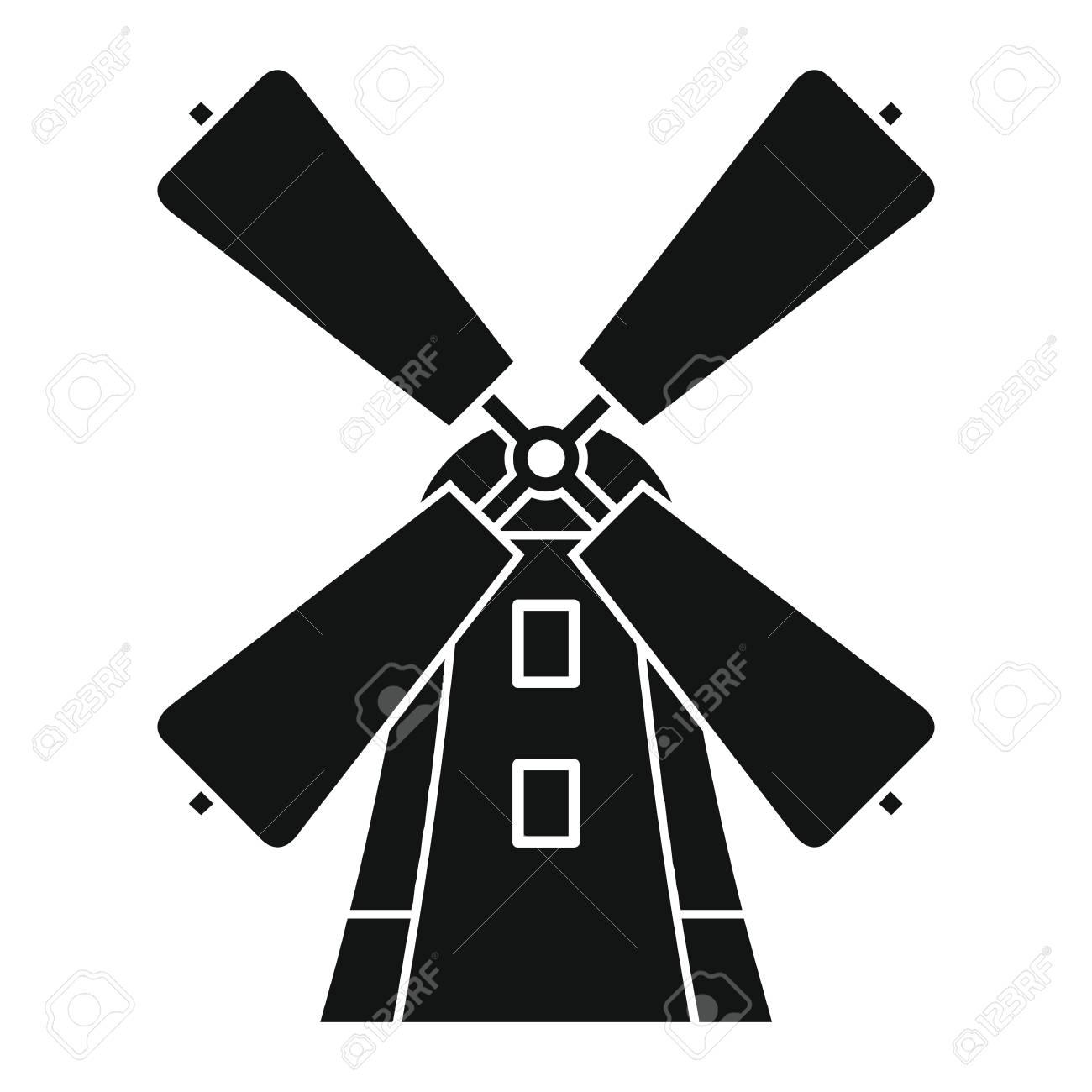 windmill icon in black simple silhouette style vector illustration rh 123rf com windmill vector free download windmill vector download