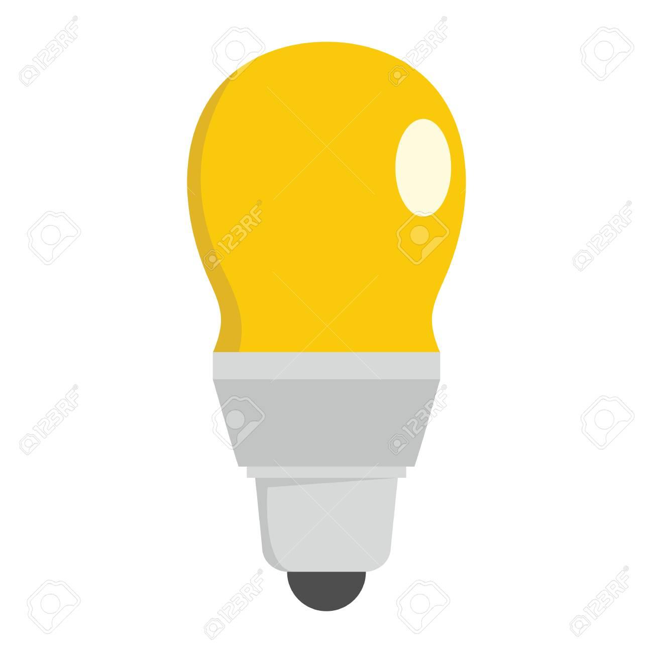 Eco Light Bulb Flat Icons Set Vector Illustration For Design