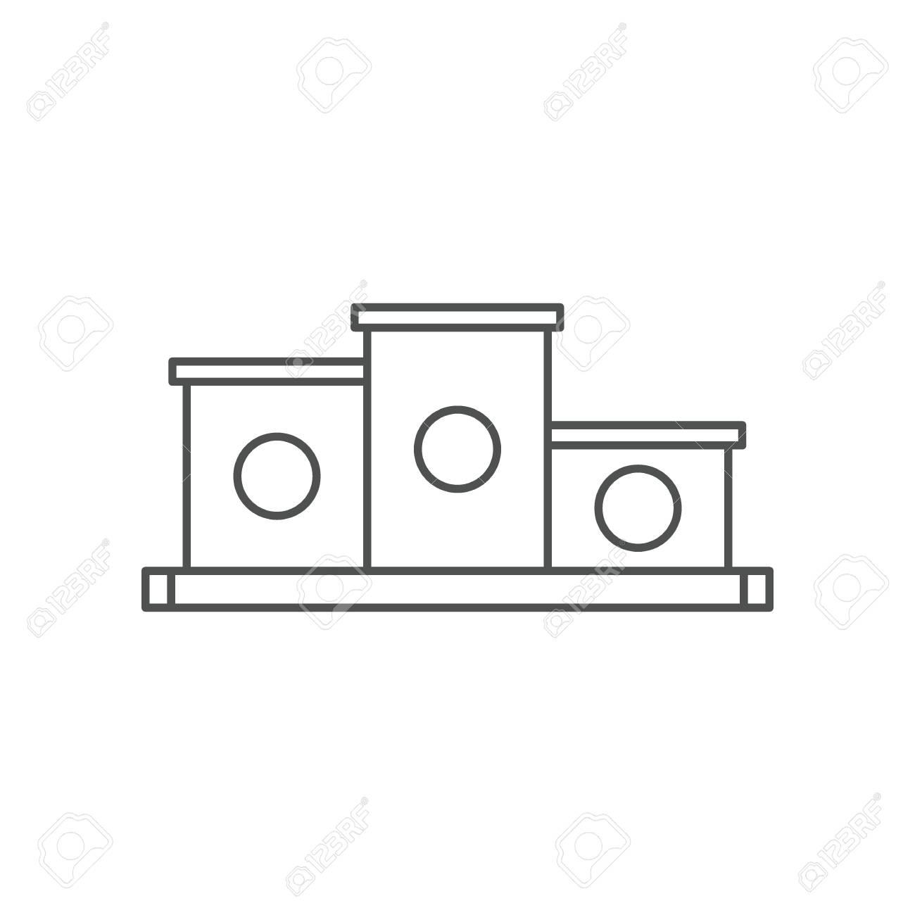 Podiode Circuit Diagram | Icono De Podio De Ganadores Ilustracion Del Esquema Del Icono De