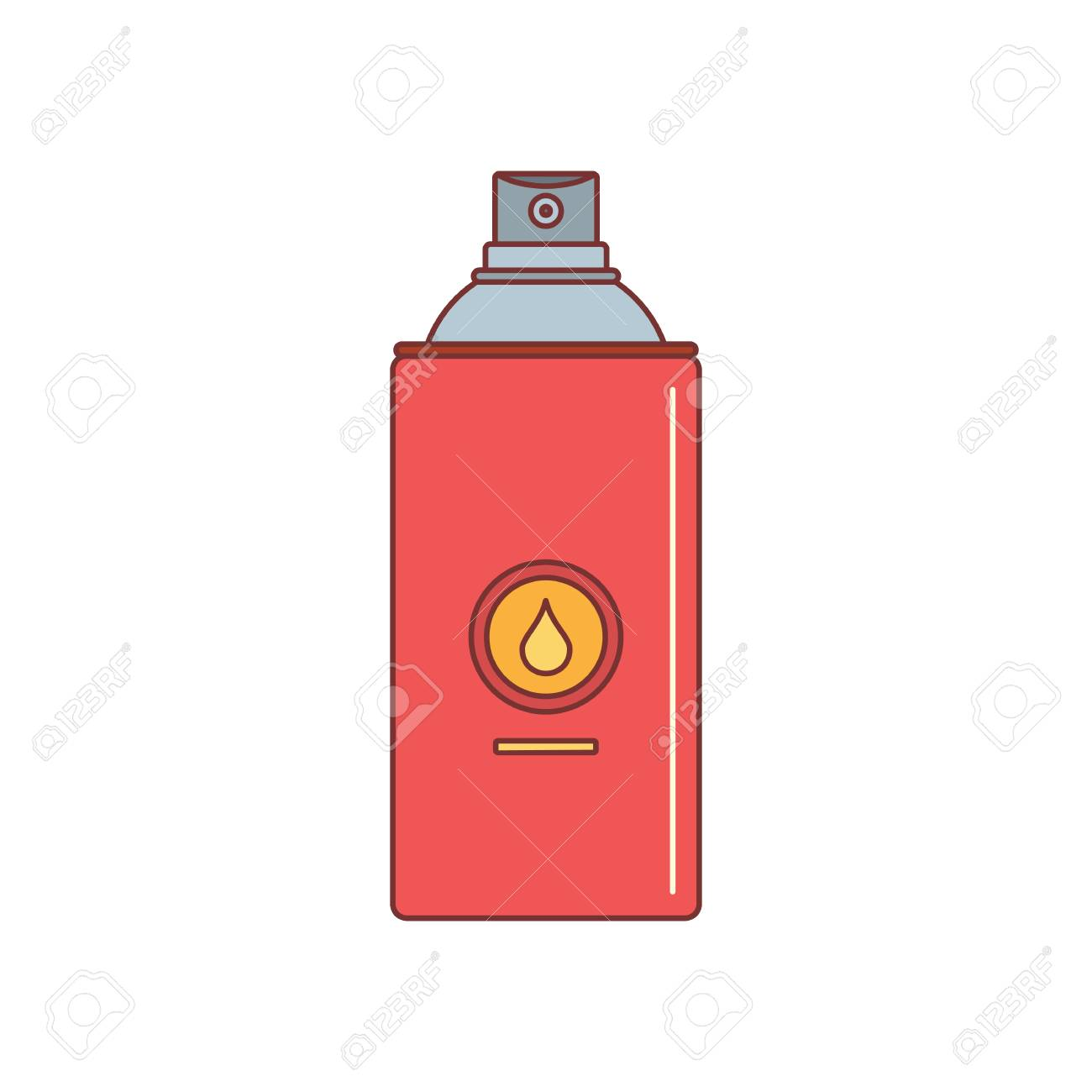 spray paint can icon cartoon illustration of spray paint can rh 123rf com spray can vector free spray paint can vector free
